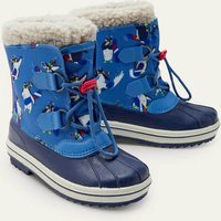 All-weather Boots College Navy Penguins Boys Boden, College Navy Penguins