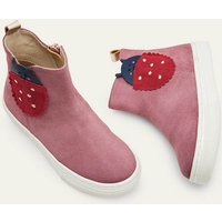 Suede Novelty Boots Bright Pink Ladybird Boden, Bright Pink Ladybird