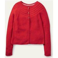 Cotton Cashmere Mix Cardigan Rockabilly Red Boden, Rockabilly Red