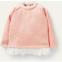 Broderie Trim Sweatshirt Provence Dusty Pink Girls Boden, Provence Dusty Pink.