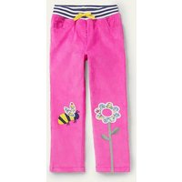Cord Patch Trousers Tickled Pink Bee Girls Boden, Tickled Pink Bee.