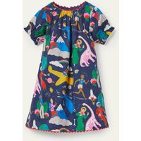Fun Printed Woven Dress Starboard Blue When I Grow Up Boden, Starboard Blue When I Grow Up