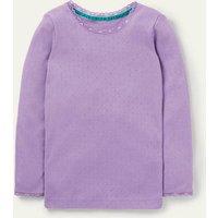 Supersoft Pointelle T-shirt Aster Purple Boden, Aster Purple