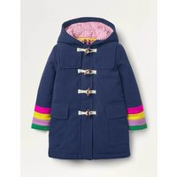 Rainbow Cuff Wool Duffle Coat College Navy Girls Boden, College Navy
