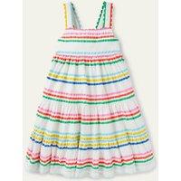 Rainbow Tiered Twirly Dress Multi Rainbow Boden, Multi Rainbow