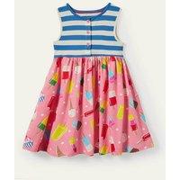 Hotchpotch Jersey Dress Pink Lemonade Ice Cream Spot Boden, Pink Lemonade Ice Cream Spot