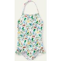 Halterneck Swimsuit Ivory Mermaid Garden Boden, Ivory Mermaid Garden