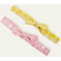 Bow Headbands 2 Pack Pink/Yellow Pineapple Girls Boden, Pink/Yellow Pineapple