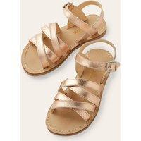 Everyday Sandals Metallic Girls Boden, Gold pink