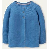 Cotton Cashmere Mix Cardigan Elizabethan Blue Boden, Elizabethan Blue