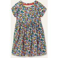 Fun Jersey Dress Elizabethan Blue Flowerpatch Boden, Elizabethan Blue Flowerpatch
