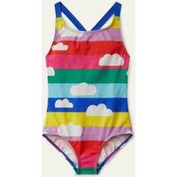 Cross-back Swimsuit Multi Rainbow Clouds Boden, Multi Rainbow Clouds.