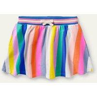 Jersey Skort Multi Rainbow Stripe Boden, Multi Rainbow Stripe