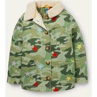 Cosy Camo Borg-Lined Jacket Multi Camo Star Boys Boden, Multi Camo Star