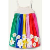 Smocked Sun Dress Multi Stripe Flowers Boden, Multi Stripe Flowers