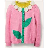 Fun Cardigan Pink Lemonade Daisy Girls Boden, Pink Lemonade Daisy