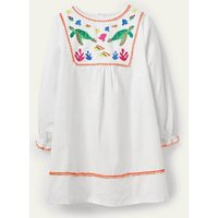 Long-sleeve Embroidered Kaftan Ivory Under The Sea Girls Boden, Ivory Under The Sea