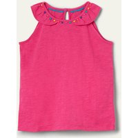 Charlie Pom Jersey Vest Party Pink Boden, Party Pink