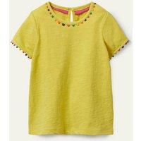 Charlie Pom Jersey T-shirt Sweetcorn Yellow Boden, Sweetcorn Yellow