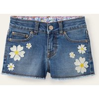 Denim Shorts Light Vintage Denim Flowers Boden, Light Vintage Denim Flowers