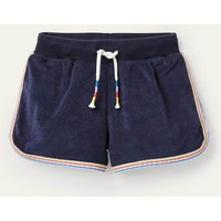 Retro Towelling Shorts College Navy Girls Boden, College Navy