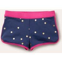 Patterned Swim Shorts Harmony Blue Gold Spot Girls Boden, Harmony Blue Gold Spot.