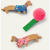 Hairclips 3 Pack Multi Dogs Boden, Multi Dogs