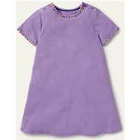 Charlie Pom Jersey Dress Cool Violet Purple Boden, Cool Violet Purple