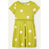 Mini-me Amelie Dress Maximilian Yellow Polka Dot Girls Boden, Maximilian Yellow Polka Dot