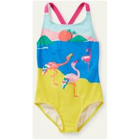 Cross-back Swimsuit Flamingo Scene Boden, Flamingo Scene