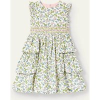 Ditsy Floral Smocked Dress Ivory Meadow Flower Girls Boden, Ivory Meadow Flower