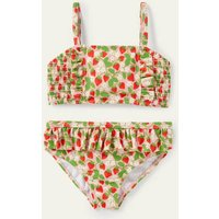 Nostalgic Smocked Bikini Boto Pink Strawberries Boden, Boto Pink Strawberries