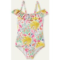Off-Shoulder Swimsuit Ivory Tropical Charm Boden, Ivory Tropical Charm