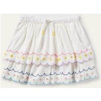Rainbow Broderie Skirt Ivory Girls Boden, Ivory