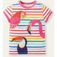 Animal Appliqu © T-shirt Multi Tropical Birds Boden, Multi Tropical Birds.