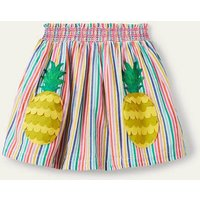 Fun Applique Skirt Rainbow Stripe Pineapples Girls Boden, Rainbow Stripe Pineapples