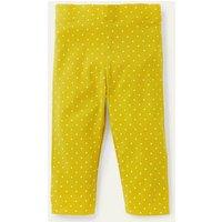 Fun Cropped Leggings Daffodil Yellow Pin Spot Boden, Daffodil Yellow Pin Spot