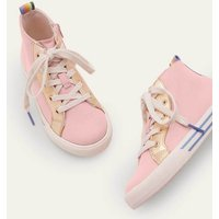 Canvas High Top Trainers Boto Pink Boden, Boto Pink