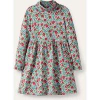 Roll Neck Supersoft Dress Multi Vintage Bloom Girls Boden, Multi Vintage Bloom