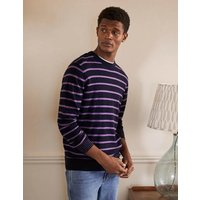 Lambswool Crew Neck Navy/Lilac Stripe Boden, Navy/Lilac Stripe
