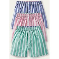 3 Pack Woven Boxers Stripe Mix Pack Men Boden, Stripe Mix Pack