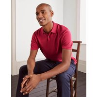 Finsbury Knitted Polo Raspberry Men Boden, Raspberry.