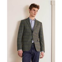 Caldey British Tweed Blazer Soft Green Windowpane Men Boden, Soft Green Windowpane