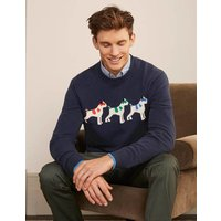 Statement Crew Neck Navy Multi Sprout Boden, Navy Multi Sprout