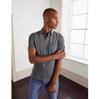 Boden Sueded Jersey Polo Dark Grey Men Boden, Grey