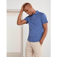 Boden Sueded Jersey Polo Blue Men Boden, Blue