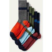 Favourite Ribbed Socks Mixed Colourblock Pack Boden, Mixed Colourblock Pack
