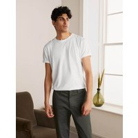Washed T-shirt White Men Boden, White