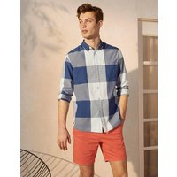 Casual Check Shirt Indigo Gingham Men Boden, Indigo Gingham.