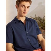 Short Sleeve Jersey Shirt Light Navy Men Boden, Light Navy.